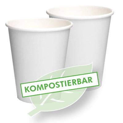 Bio-Hartpapierbecher, kompostierbar, PLA