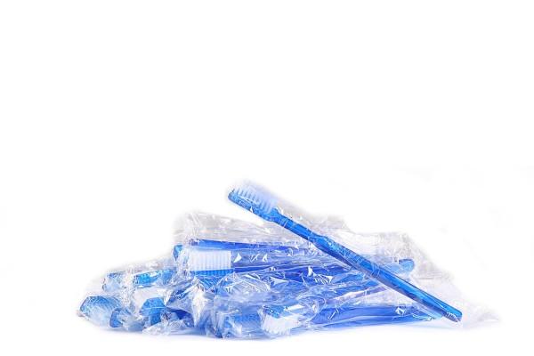 Einmalzahnbürste / Einwegzahnbürste 10 Stück mit Zahnpasta